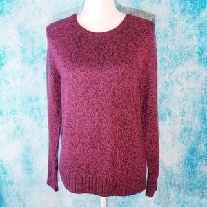 H&M Marled Red and Black Knit Sweater